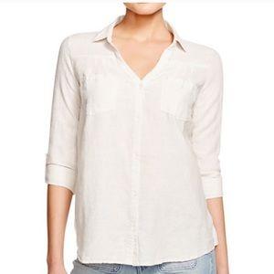Joie Brady soft Linen Rayon Viscose White Top